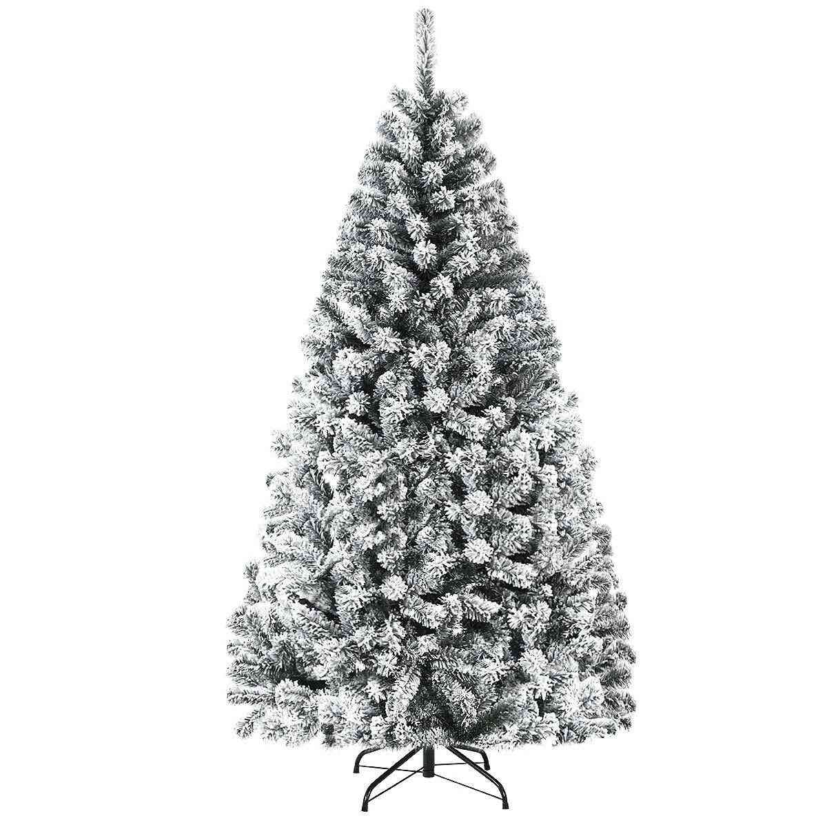 6 Ft Snow Flocked Hinged Artificial Christmas Tree