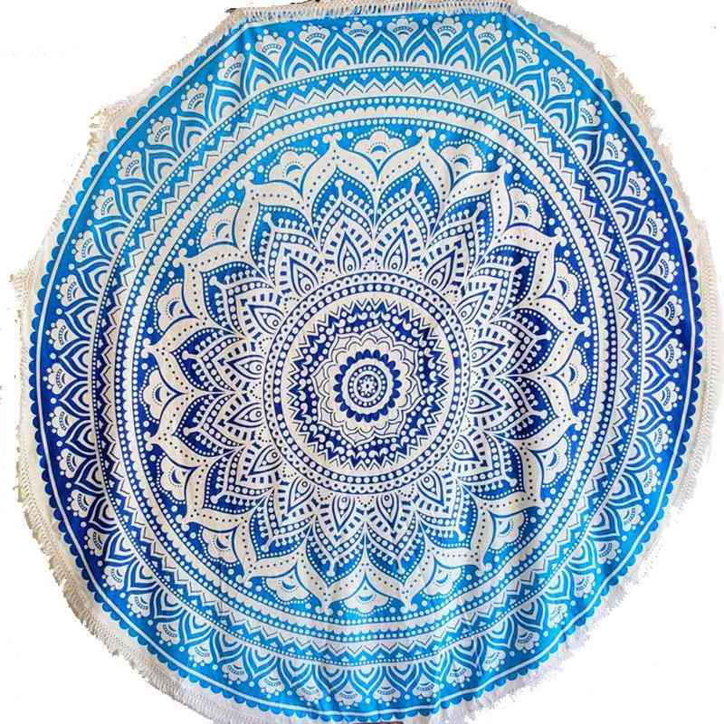 Ombre Round Mandala Tapestry