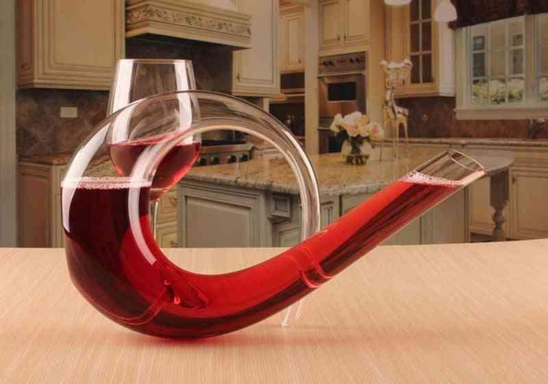 Brass Instrument Shape Wine Decanter