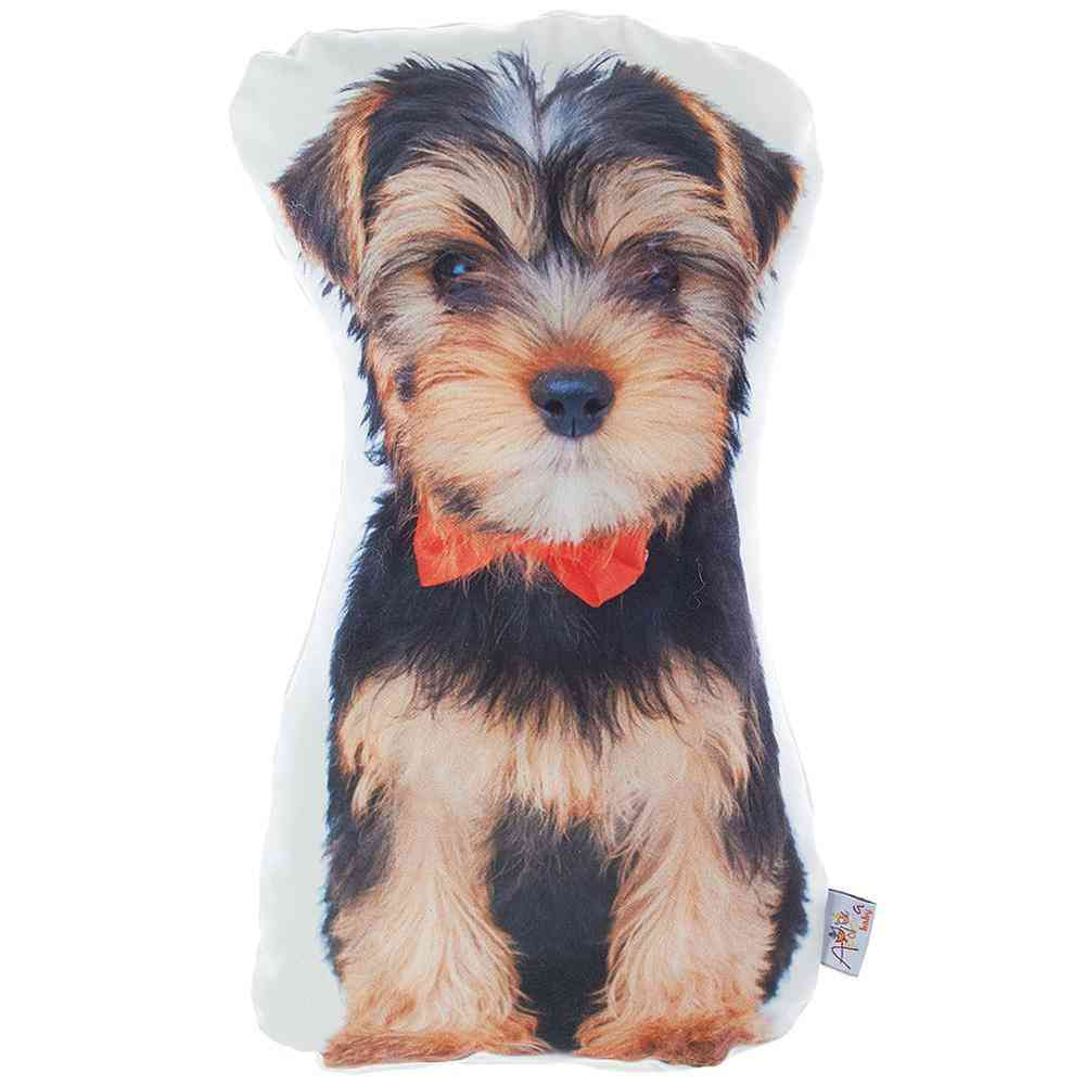 Yorkie Dog Shaped Filled Pillow