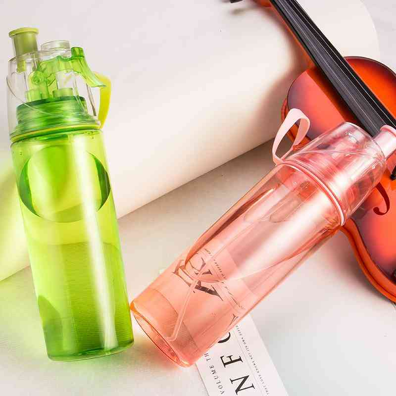 Heat Resistant And Convenient, Cycling Mist Spray Water Bottle