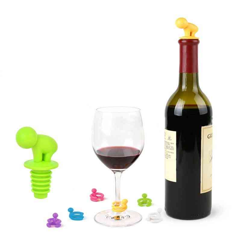 Little People Wine Stopper And Markers