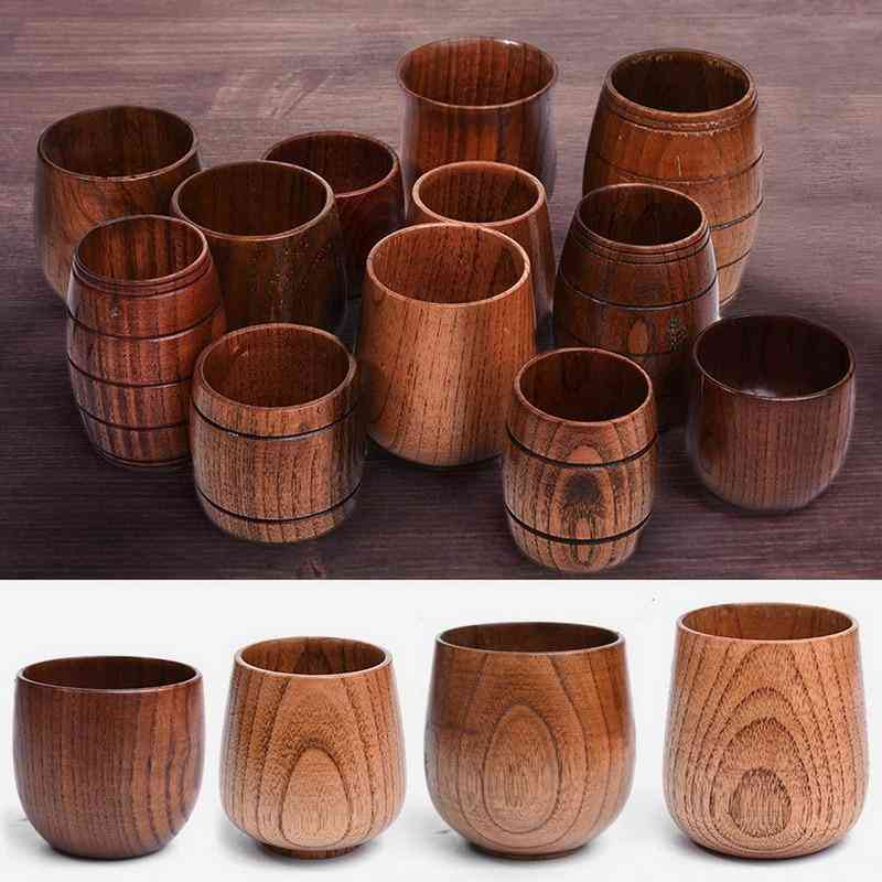 Big Belly, Handmade Natural Wooden Cups