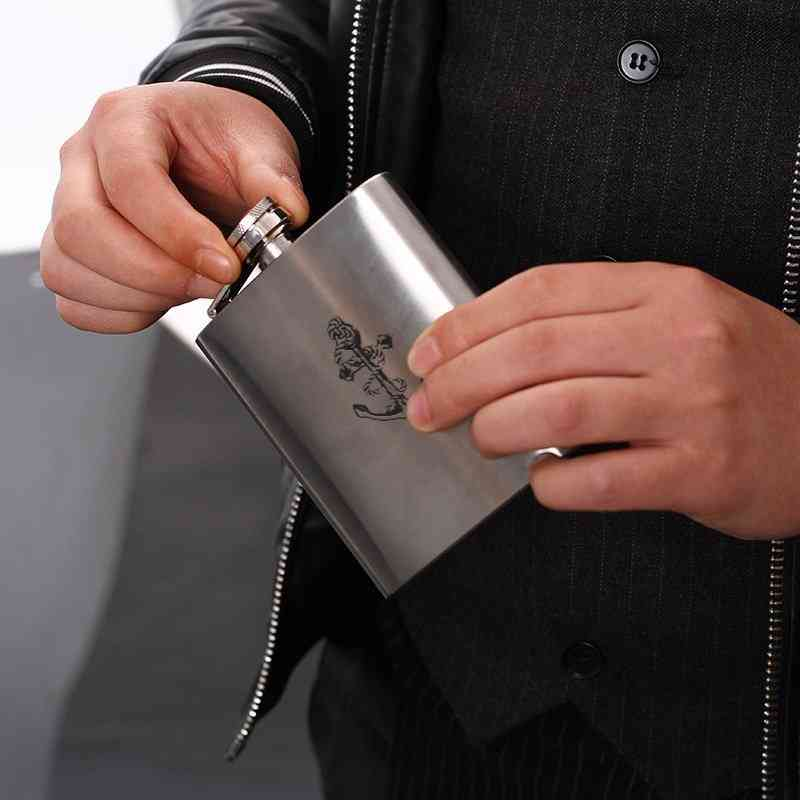 Anchor Printed, Wine Flask