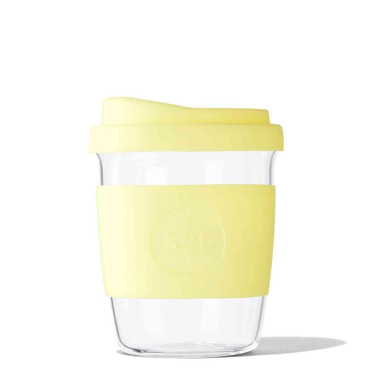 Yummy Yellow Glass Travel Tumbler