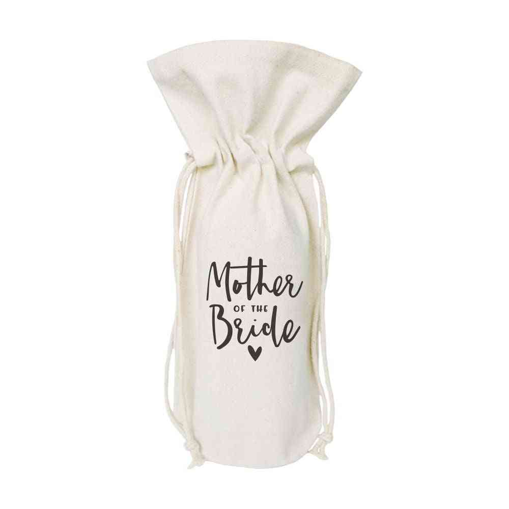 Mother Of The Bride-canvas Wine Bag