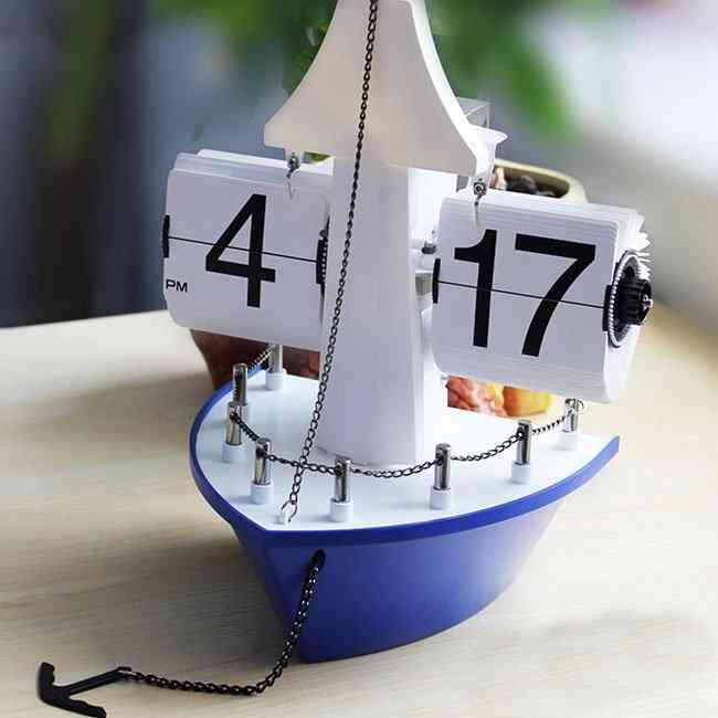 Sailing Boat Auto Flip Clock