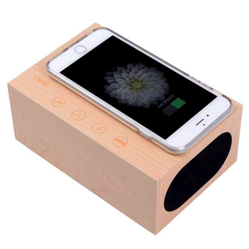 Wooden Qi Wireless Charger Clock