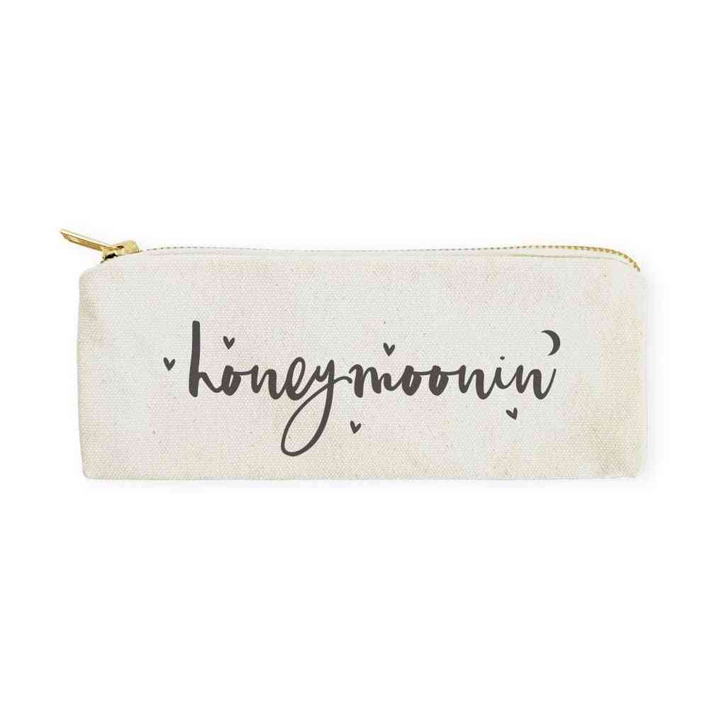 Honeymoon-cotton Canvas Pencil Case And Travel Pouch