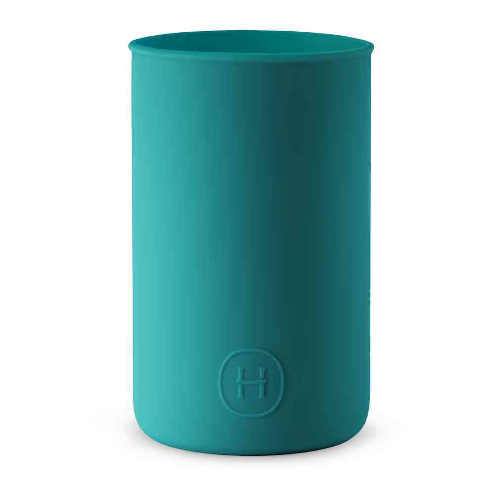 Turquoise Blue Silicone Sleeve Drinkware
