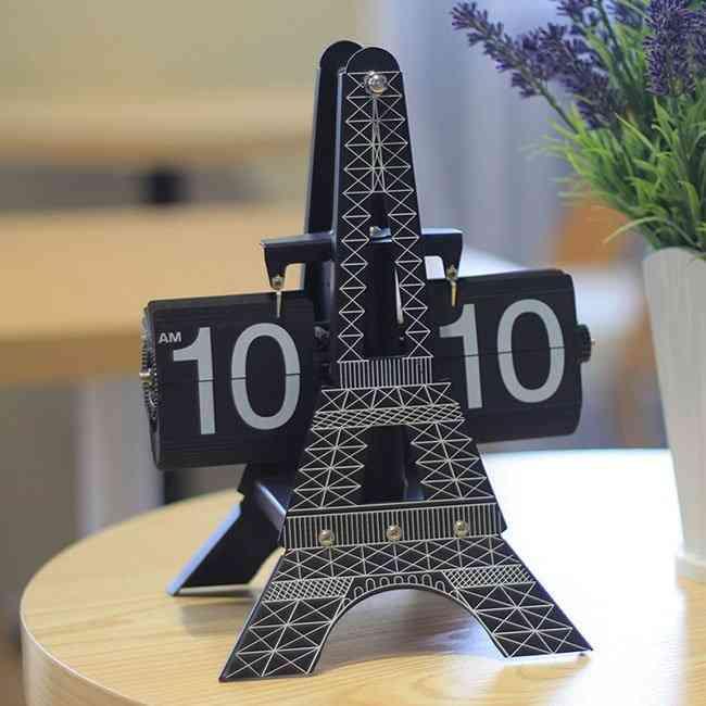 Eiffel Tower Flip Clock