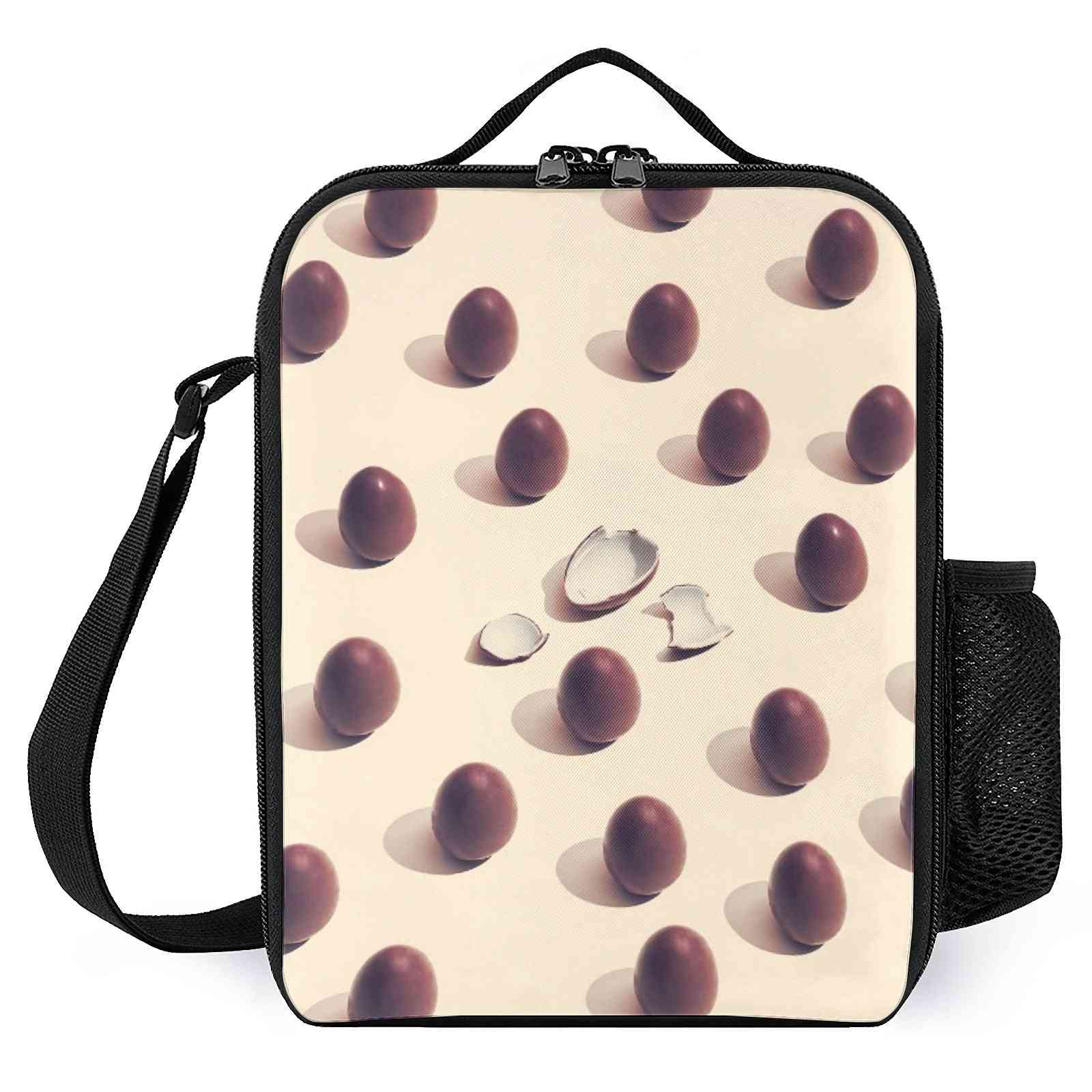 Chocolate Eggs  Printed Insulated Lunch Bags