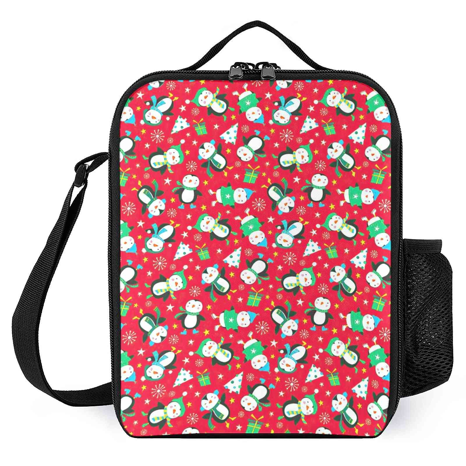 Cute Penguins Printed Insulated Lunch Box