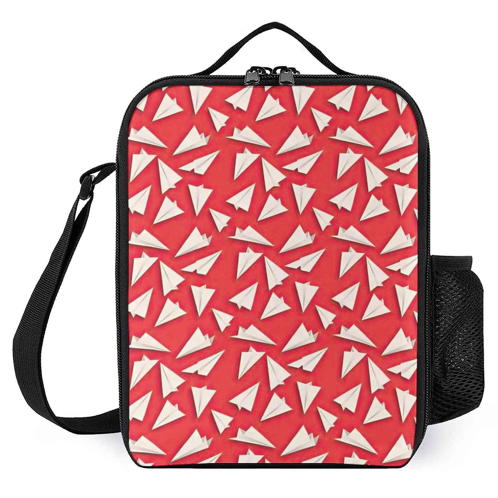 Paper Planes Pattern Printed Lunch Box