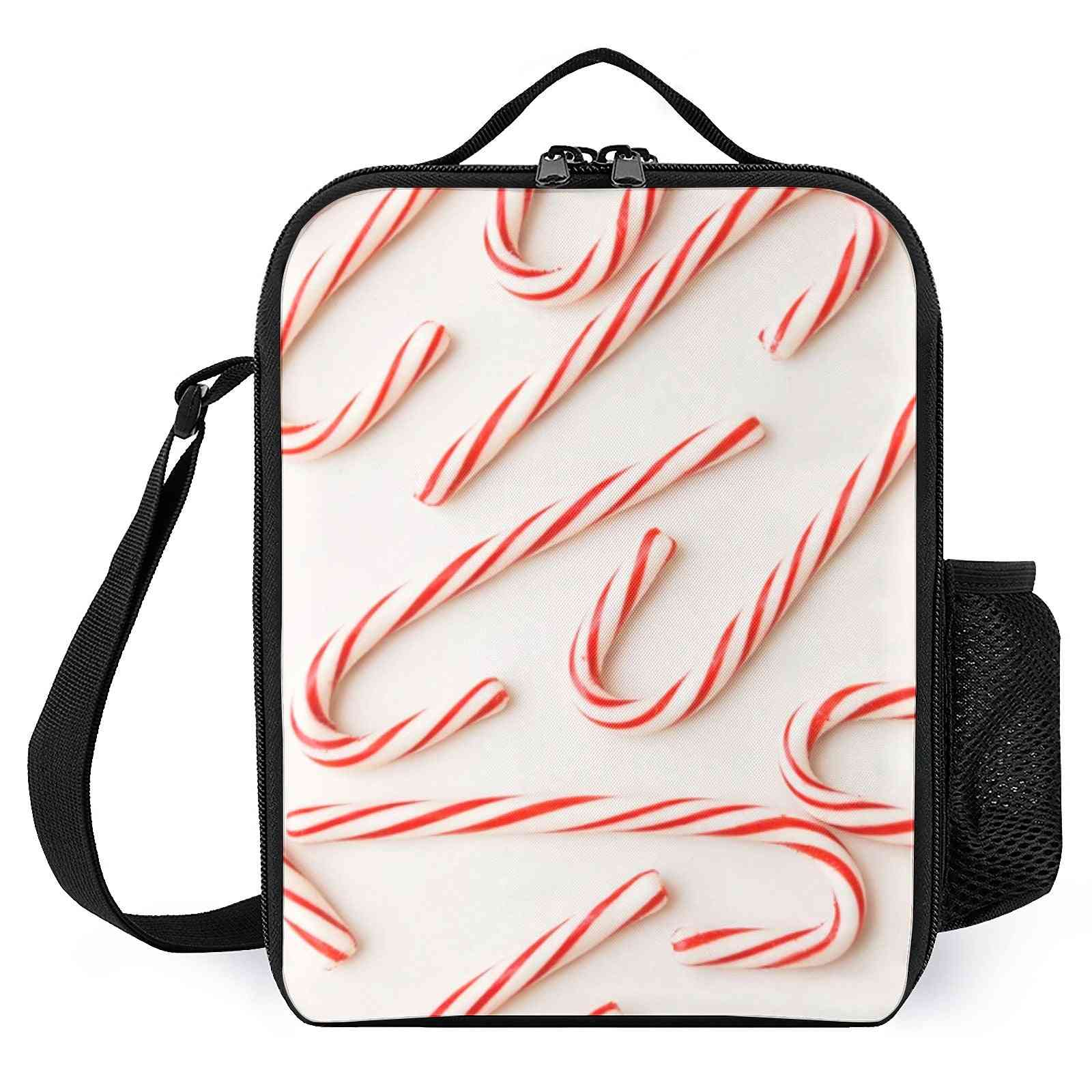 Sweet Christmas Candy Canes  Printed Lunch Bags