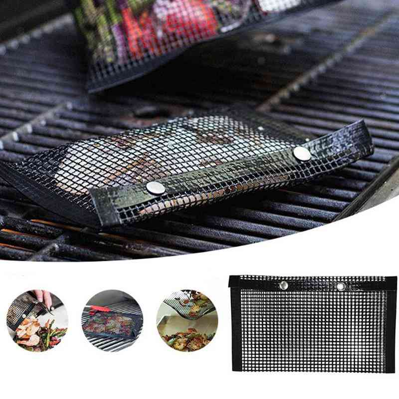 Reusable, Bbq Heat Resistant And Non-stick Mesh Grilling Bag