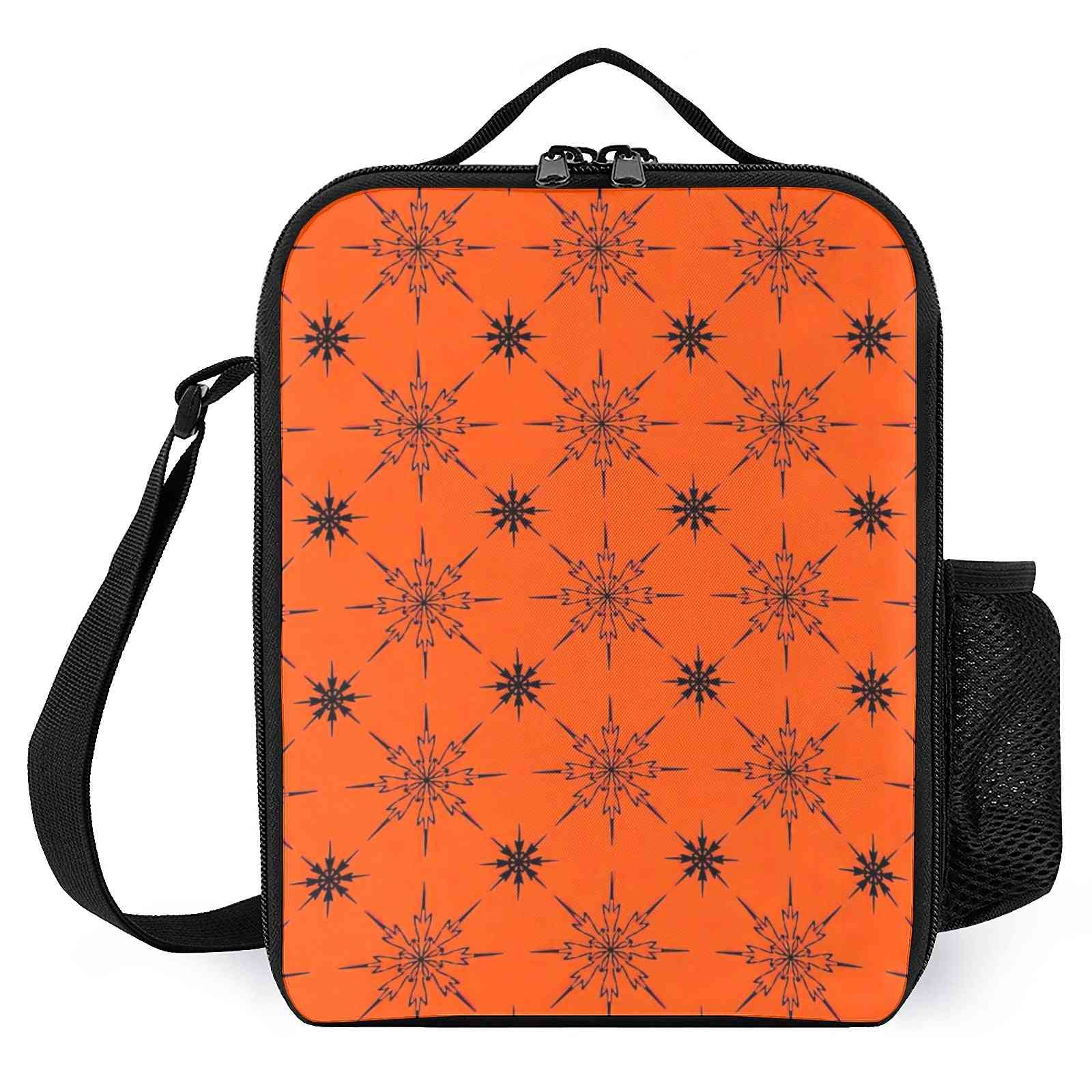 Snowflake Pattern Printed Insulated Lunch Box For School