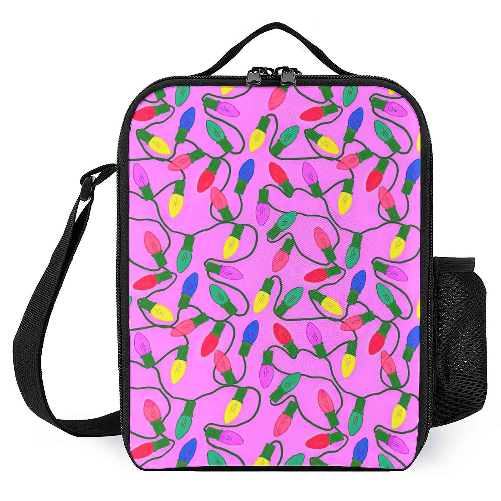 Stylish Floral Printed- Insulated Lunch Tote Bags For School