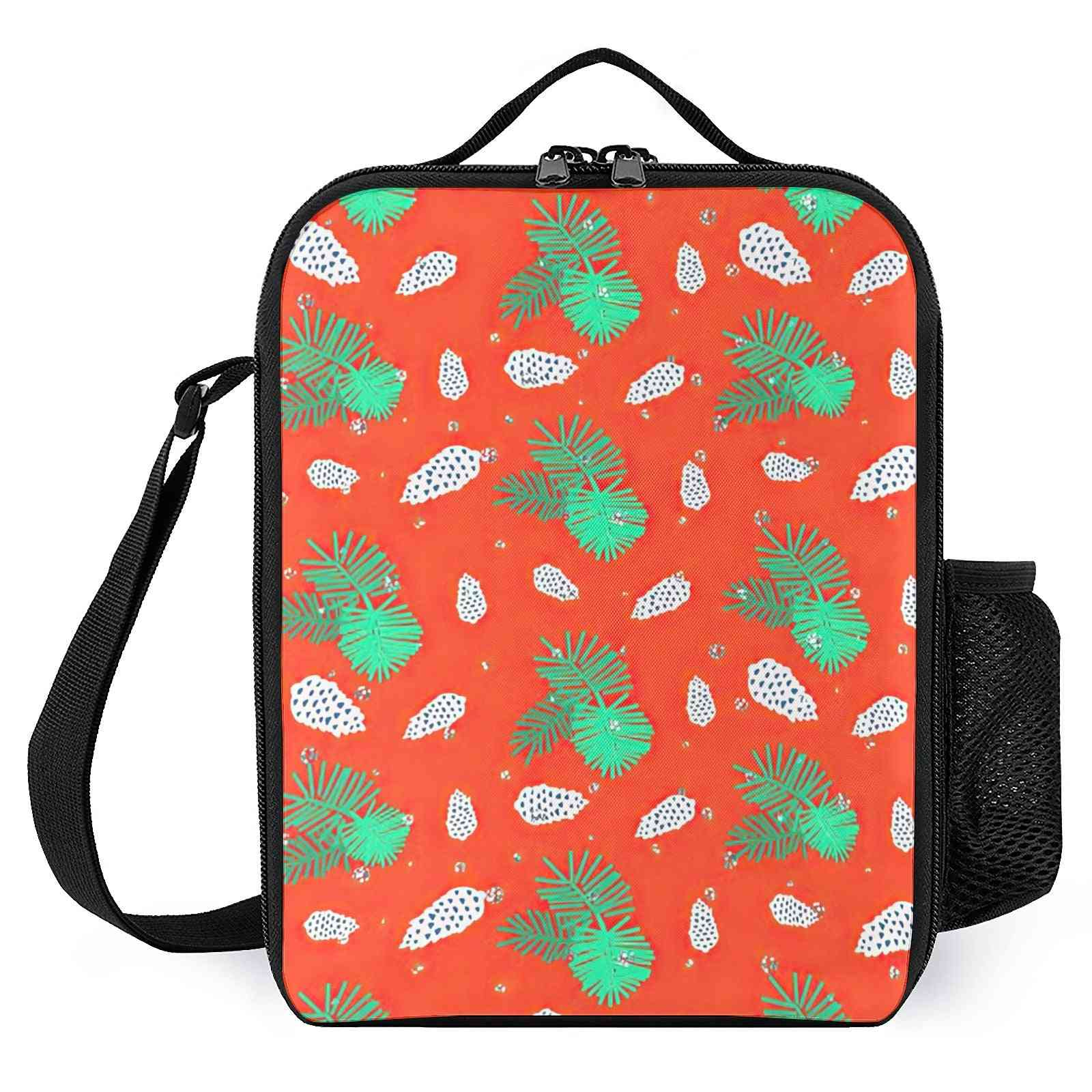 Christmas Pattern Printed-reusable Lunch Bags For Kids