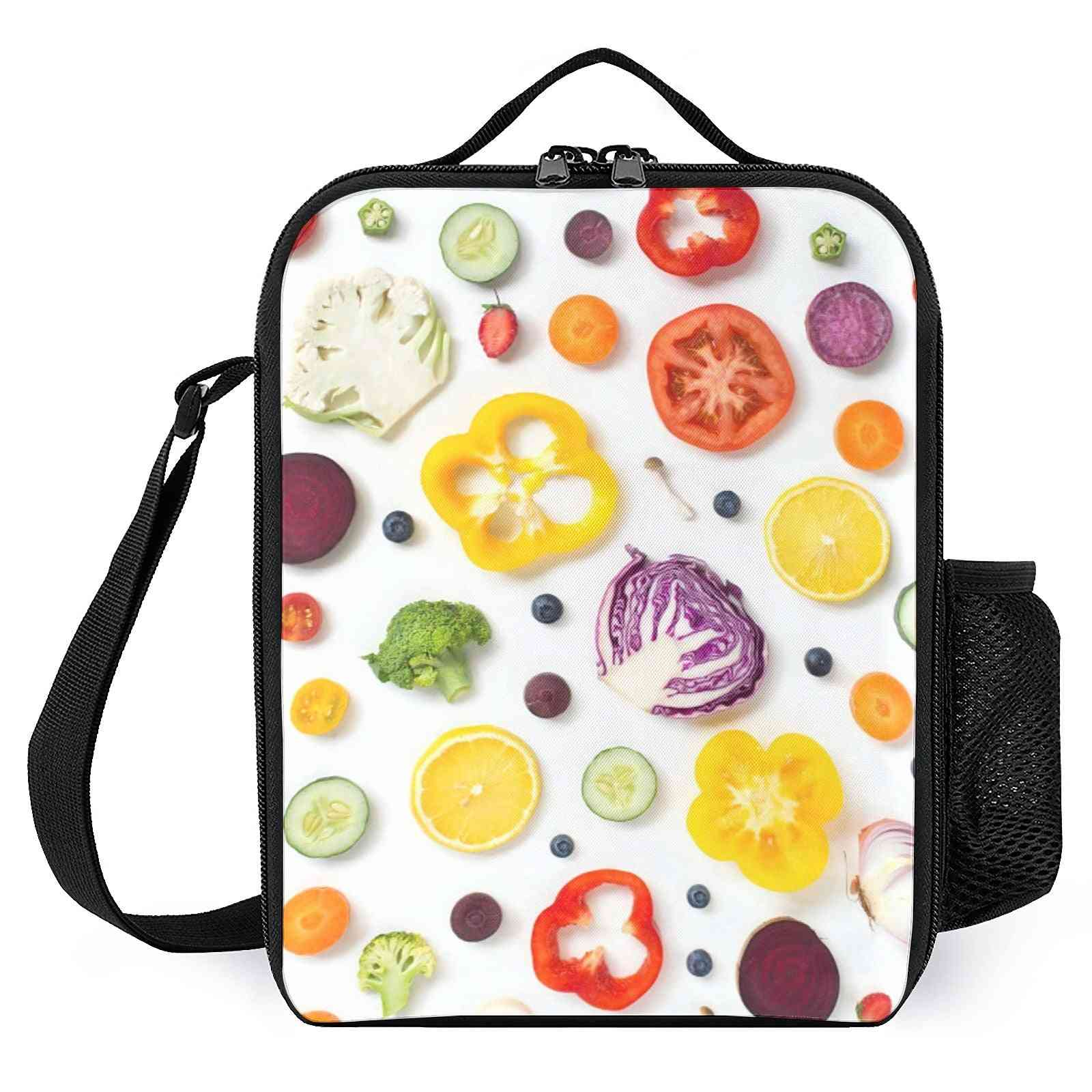 Fruits Vegetables  Printed Lunch Bags