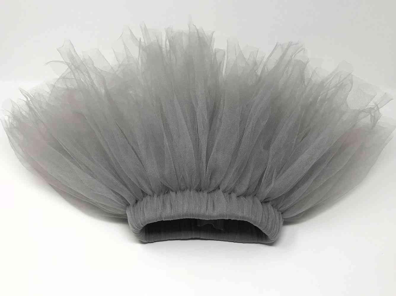 Fluffy Silver Grey Tutu  Skirt