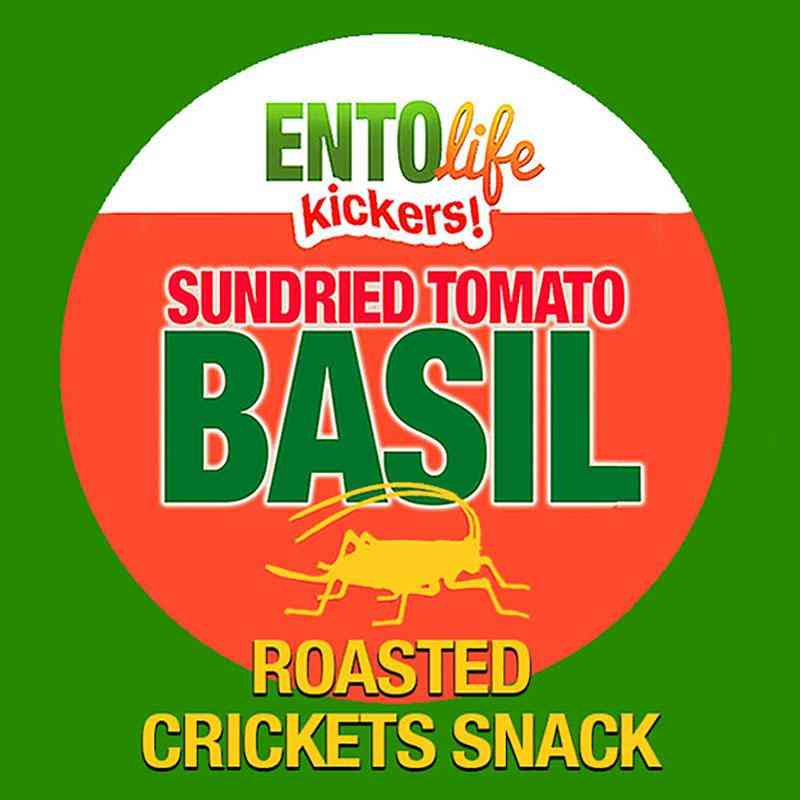 Sun-dried Tomato Basil Flavored Cricket Snack
