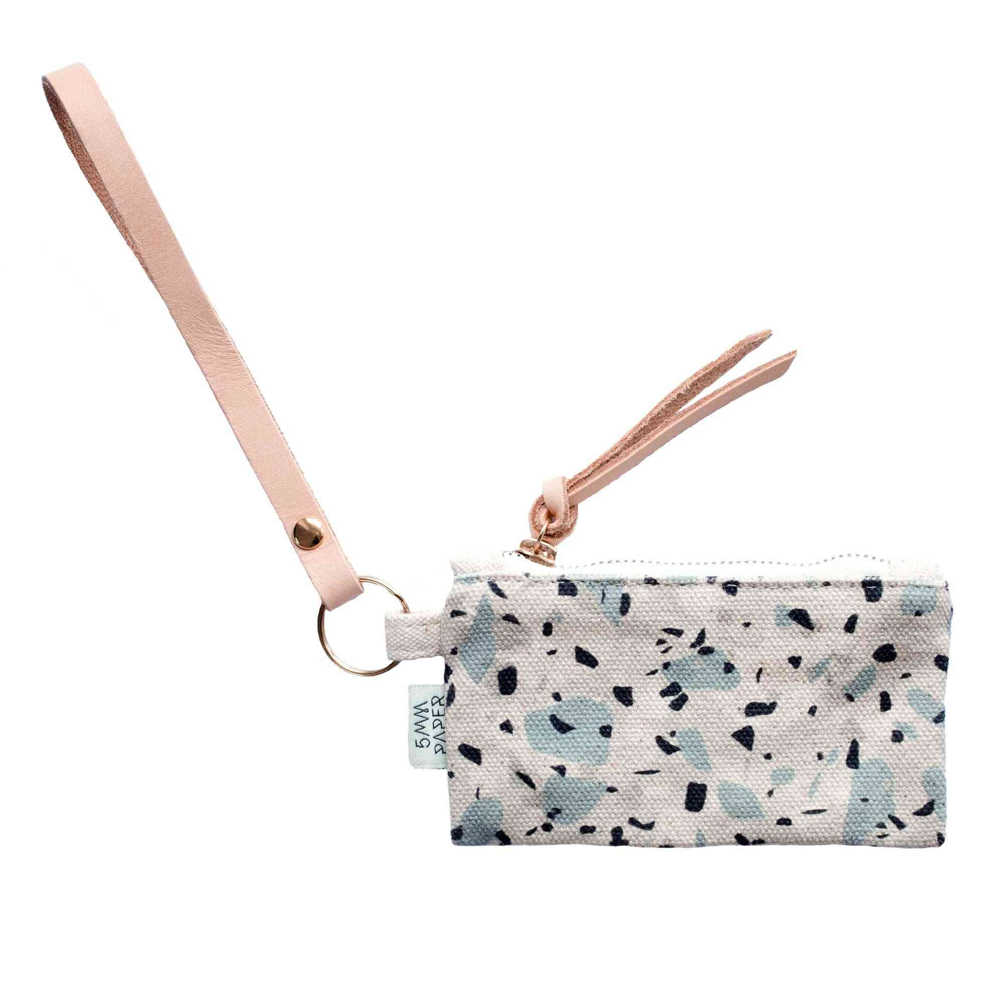 Leather Key Chain With Card/coin Pouch