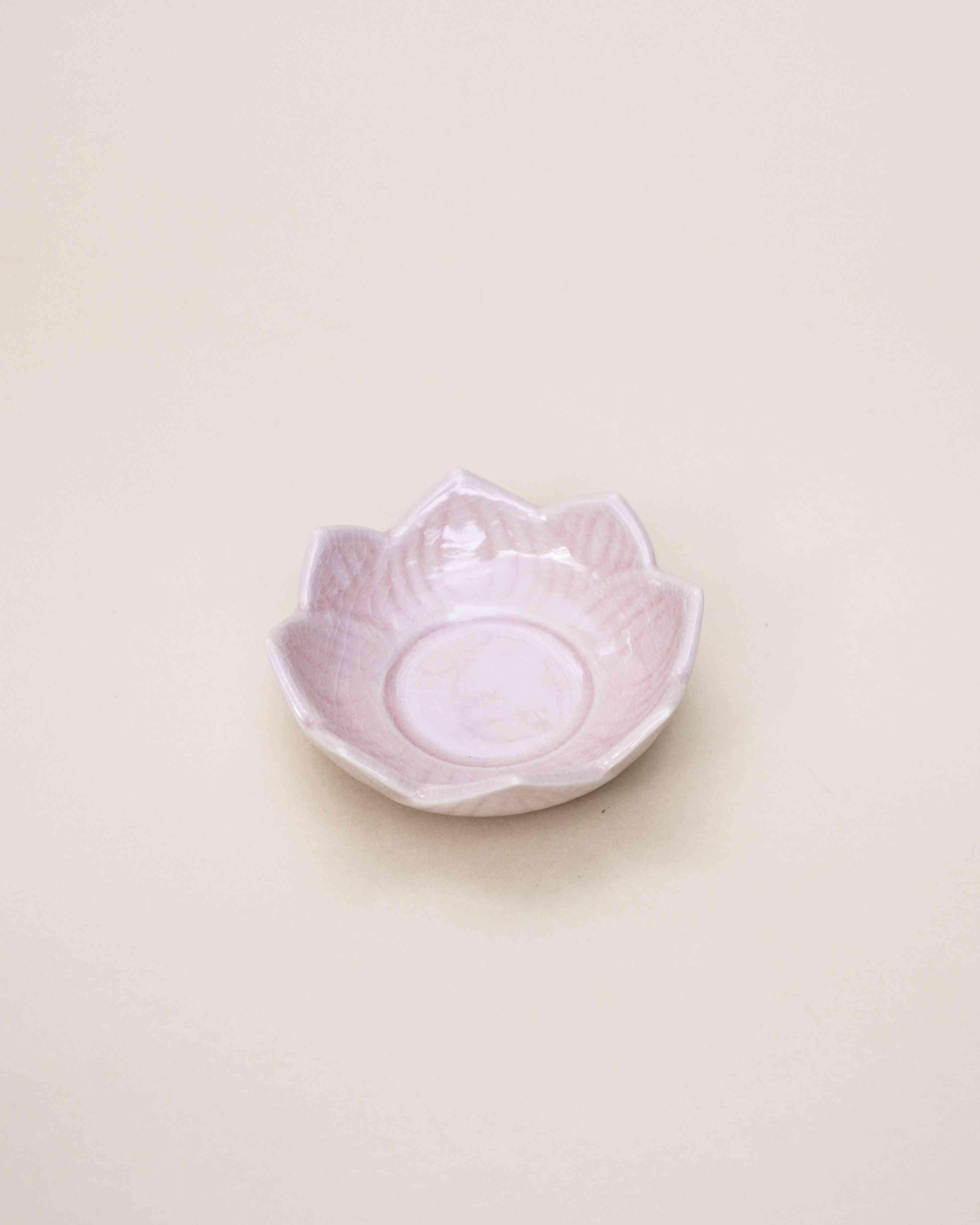 Pink Lotus Stoneware Tealight Holder