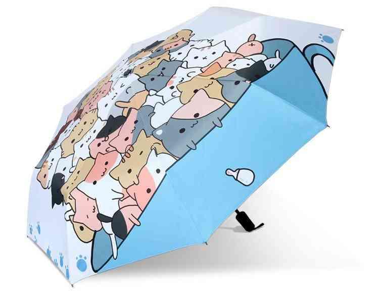 Creative Cartoon Cat Painting Umbrella