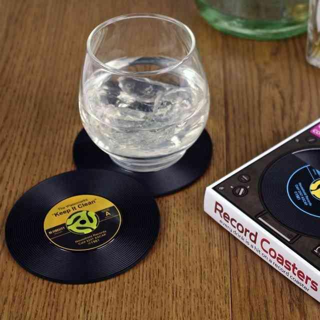 Record Shaped Creative Coasters