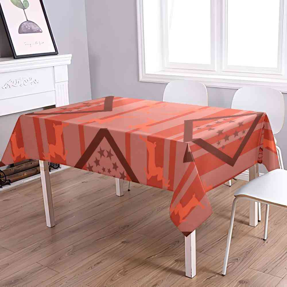 Art Print Water-proof Table Cover