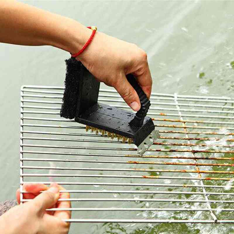 3 In 1 Barbecue Grill Cleaner Brush