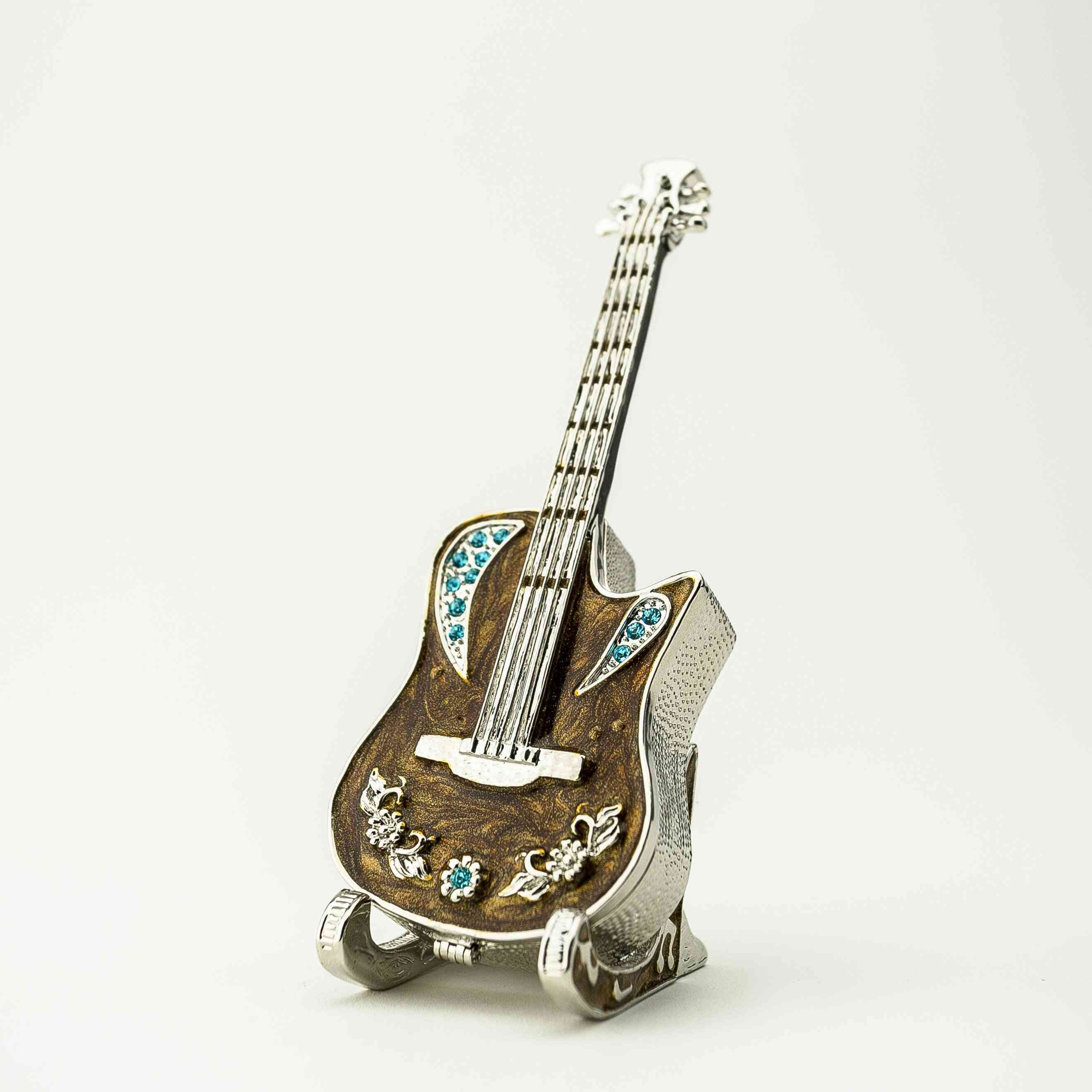 Guitar On Stand-trinket Box