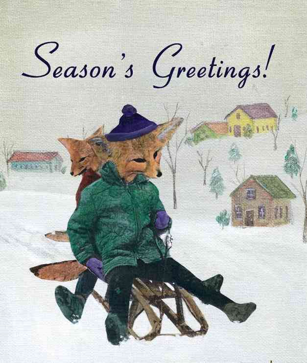 Holiday Sledding Foxes Cards
