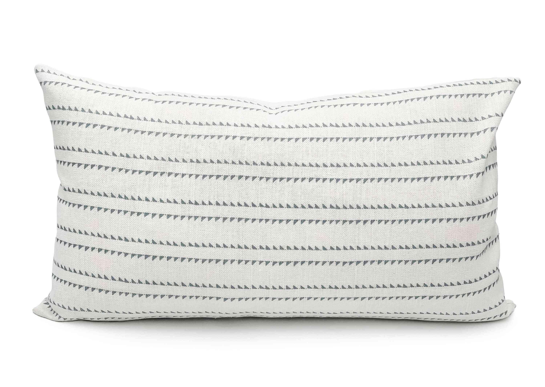 Rock Grey Stripes On White Lumbar