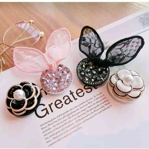 Camellia Flower And Bunny Style-mobile Phone Holders