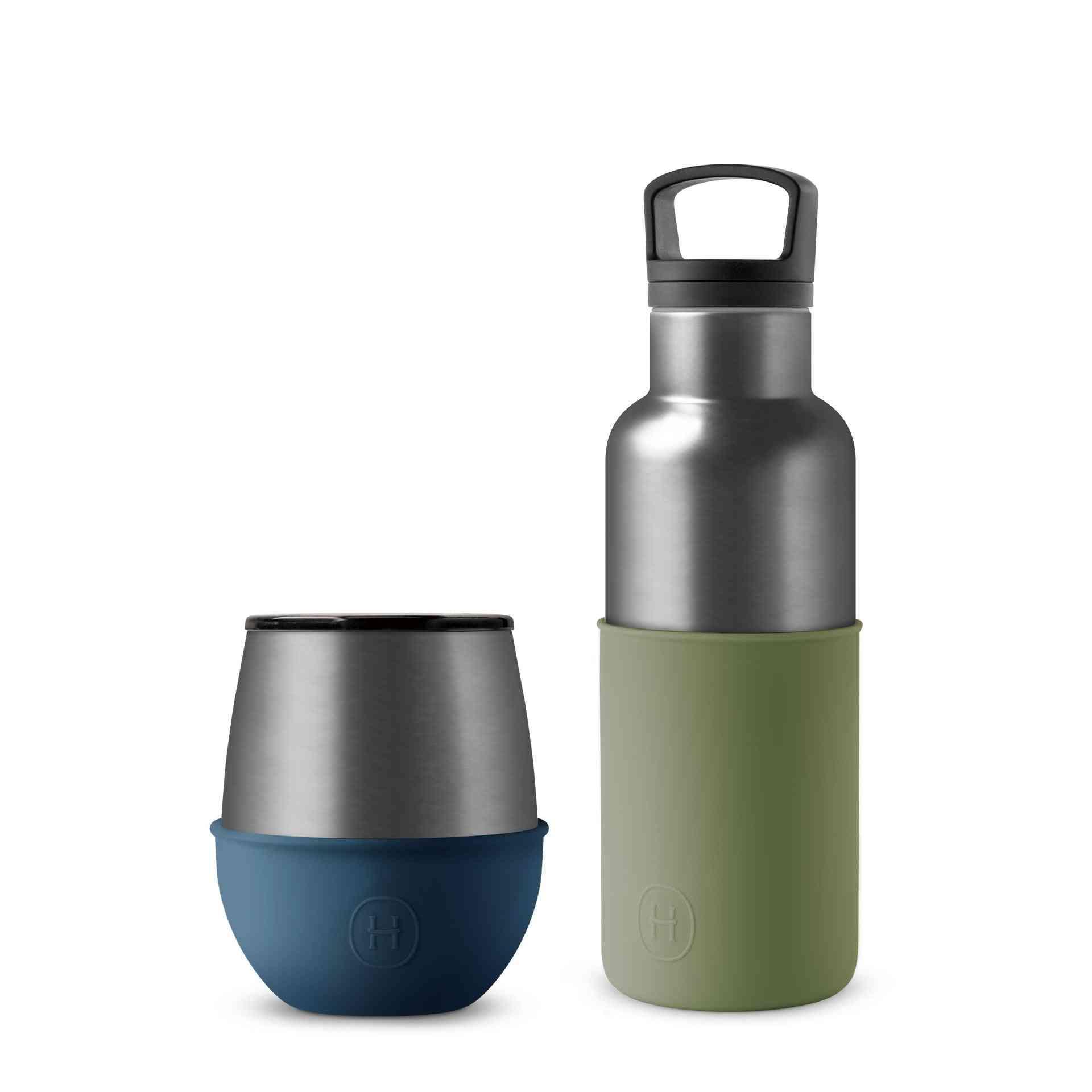 Titanium Grey Bottle And Tumbler Set