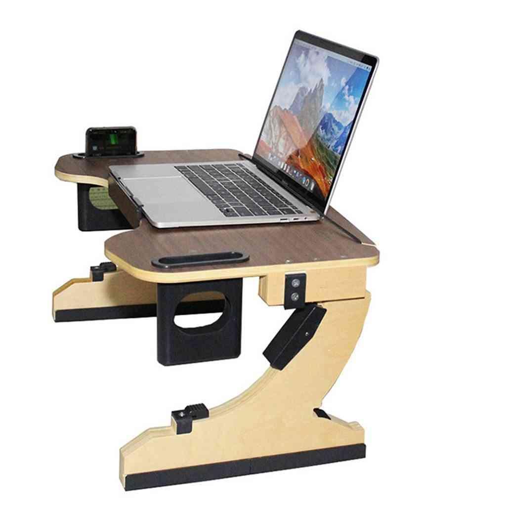 Adjustable Laptop Table Wooden Folding Notebook Tablet Desk Stand