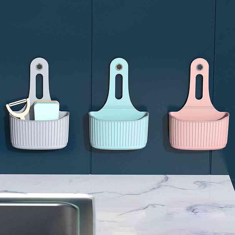 Wall-mounted Hanging Bag Kitchen Sink Sponge Storage Hanging Basket