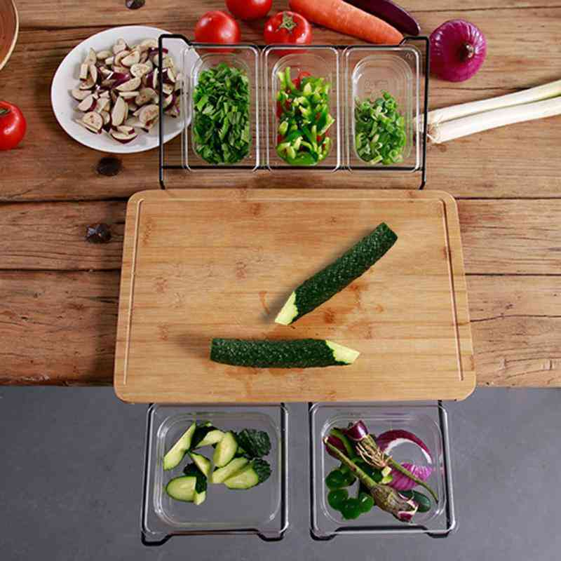 Eco-friendly, Extensible Bamboo Cutting Board Set