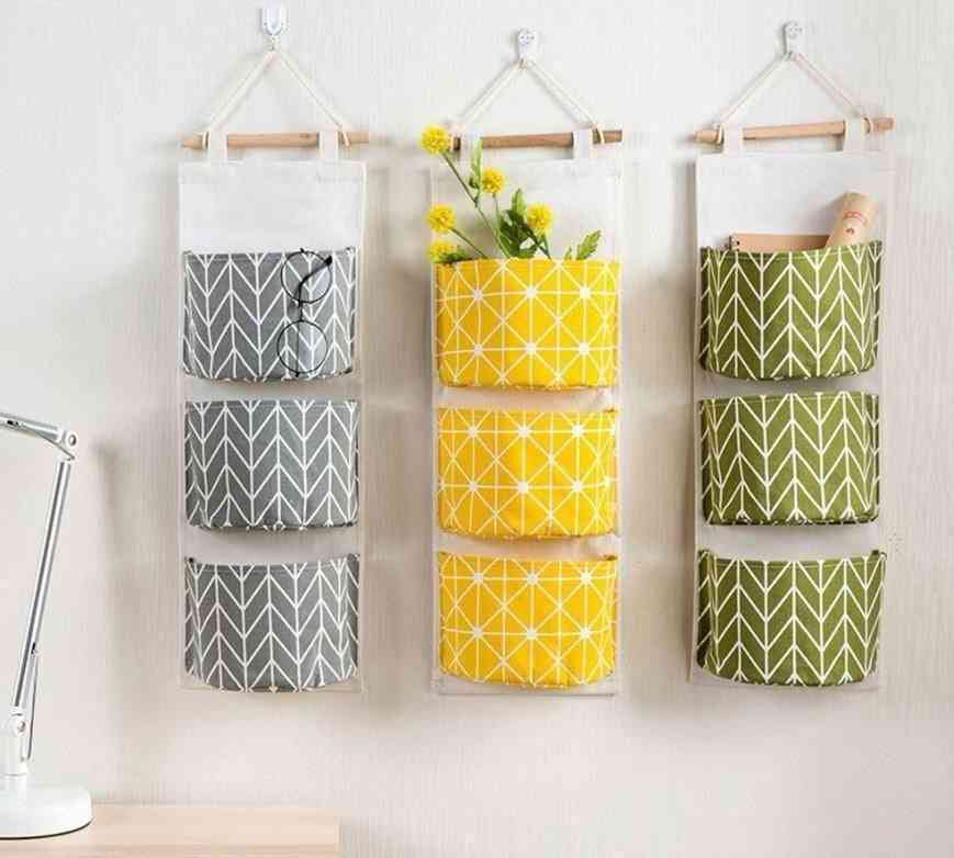 Wall Hanging Storage Bag Container Decor Pocket Pouch