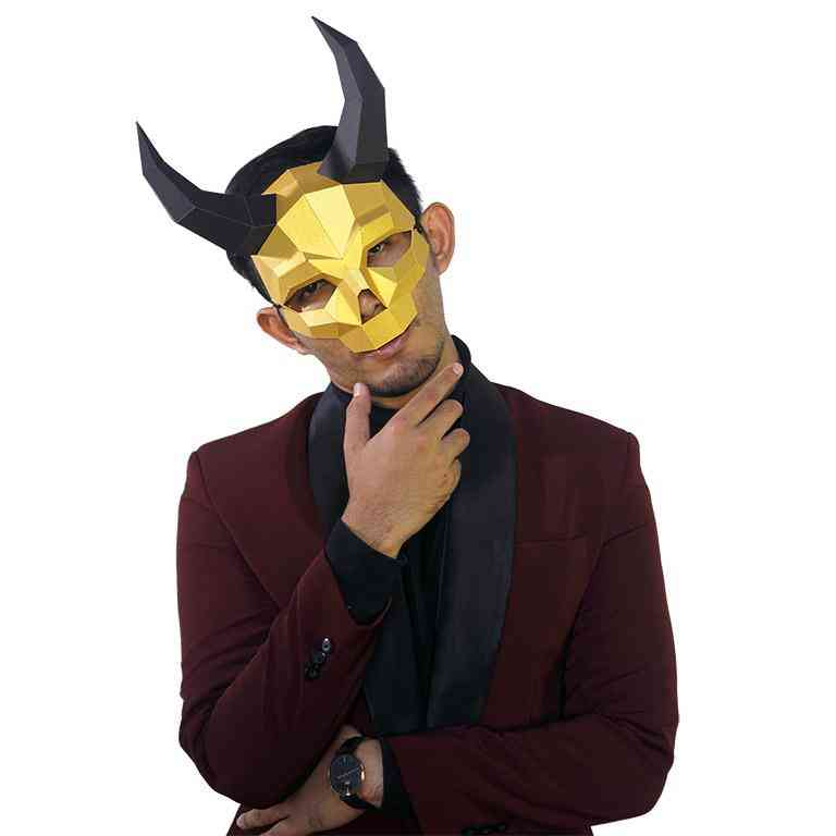 Long Horned Skull Mask