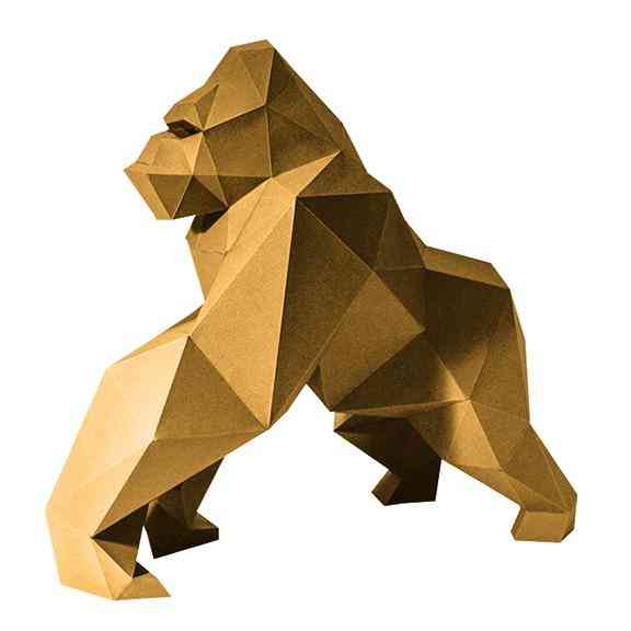 Gorilla Model - Gold Limited Edition