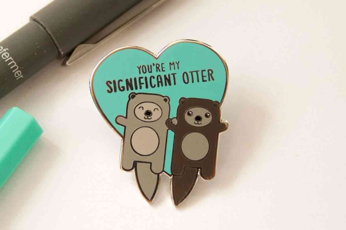 Significant Otter Enamel Pin & Card