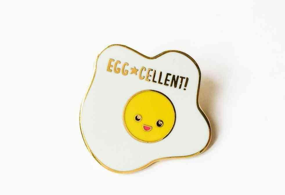 Egg-cellent Fried Egg Hard Enamel Pin