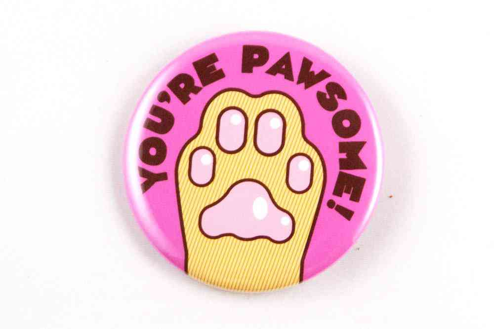 Funny Cat Paw Magnet, Pin, Or Pocket Mirror