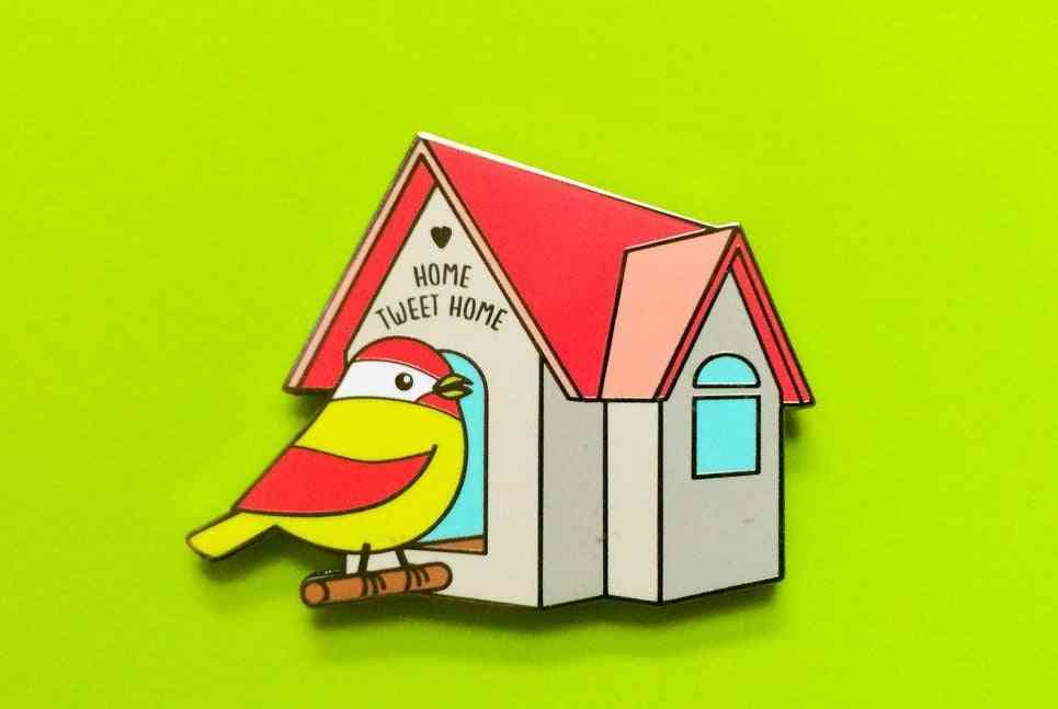 Home Tweet Home!-cute Bird Hard Enamel Pin