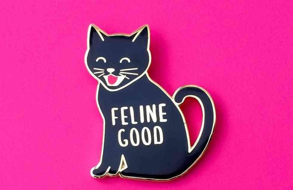 Feline Good Cat Enamel Pin