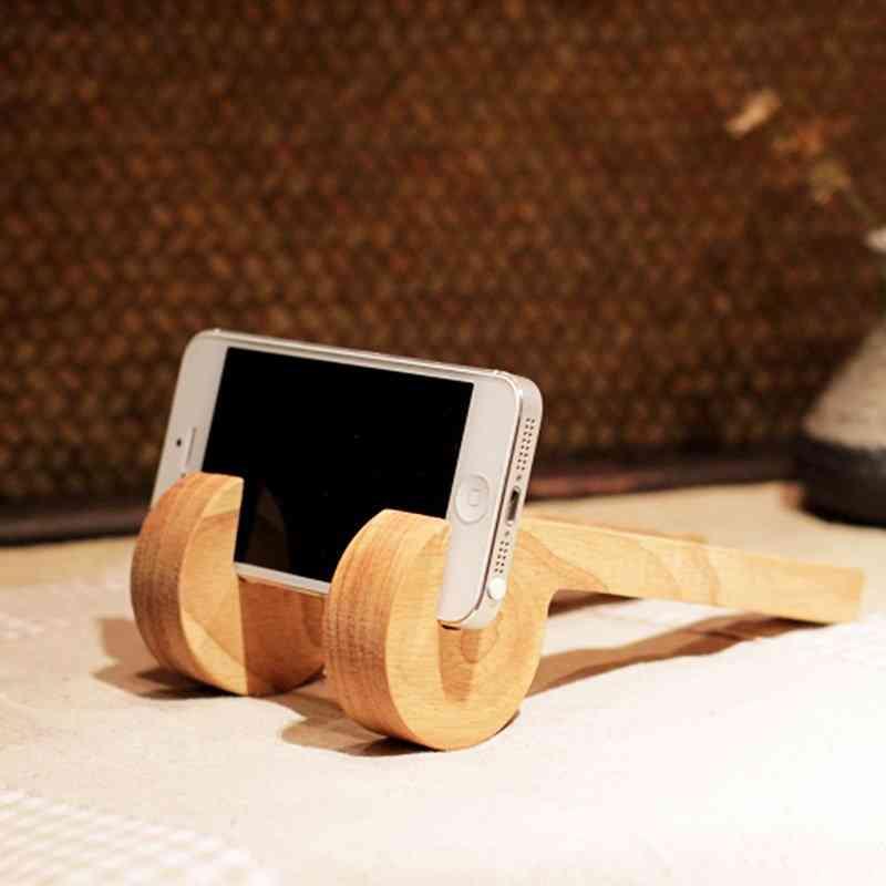 Wood Stand Phone Holder Bracket