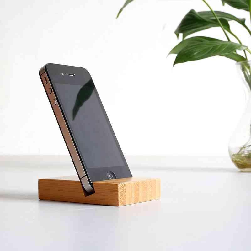 Bamboo Desk Stand Holder Bracket